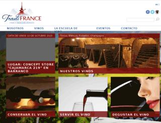 tradifrance.com.pe screenshot