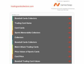 tradingcardcollectors.com screenshot