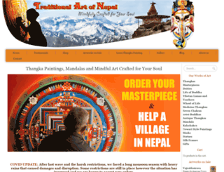traditionalartofnepal.com screenshot