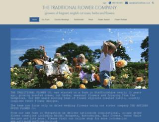 traditionalflower.co.uk screenshot