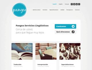 traduccionespangea.com screenshot