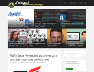 tradugeek.com screenshot