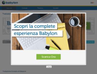 traduttore.babylon.com screenshot