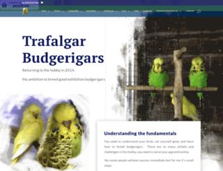 trafalgarbudgerigars.co.uk screenshot