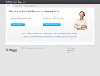 trafficbonus.rhinosupport.com screenshot