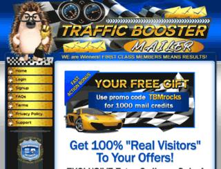 trafficboostermailer.com screenshot
