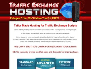 trafficexchangehosting.com screenshot
