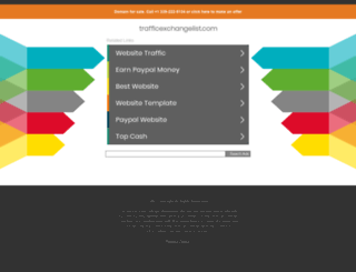 trafficexchangelist.com screenshot