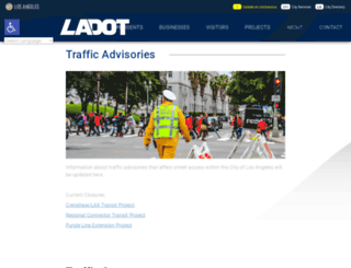 trafficinfo.lacity.org screenshot