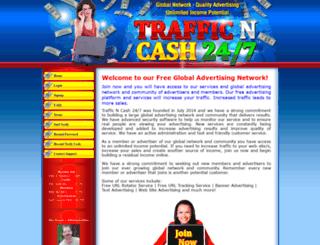 trafficncash247.com screenshot
