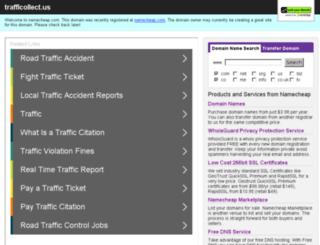 trafficollect.us screenshot
