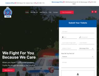 trafficparalegalservices.com screenshot
