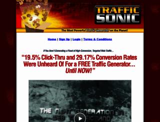 trafficsonic.com screenshot