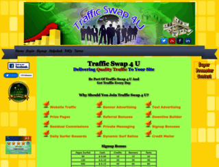trafficswap4u.com screenshot