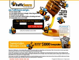 trafficswarm.com screenshot