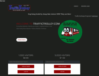 traffictrolley.com screenshot