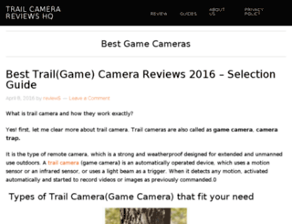 trailcamerareviewshq.com screenshot