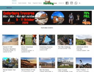 trailrunning.co.za screenshot