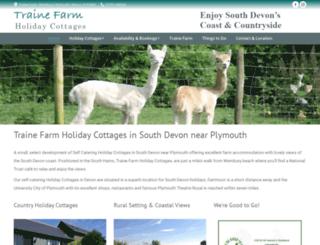 traine-holiday-cottages.co.uk screenshot