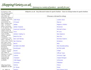 trainer-sports-fashion.shoppingvariety.co.uk screenshot