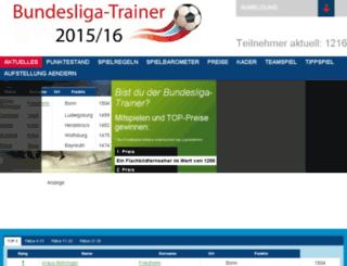 trainerspiel.rhein-zeitung.de screenshot
