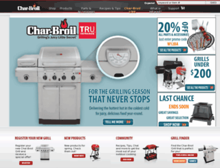 training.charbroil.com screenshot