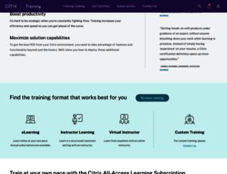 training.citrix.com screenshot