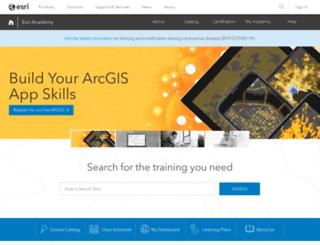 training.esri.com screenshot