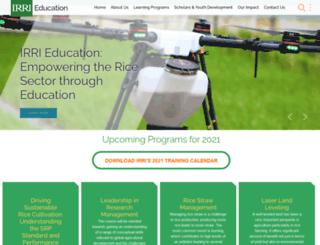 training.irri.org screenshot