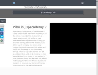 training.joacademy.com screenshot
