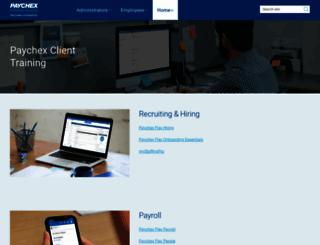 training.paychex.com screenshot