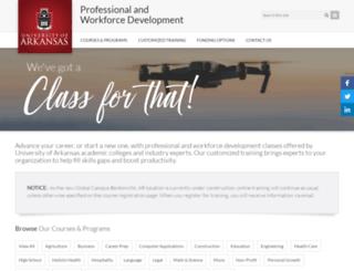 training.uark.edu screenshot