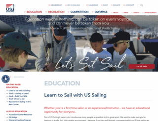 training.ussailing.org screenshot