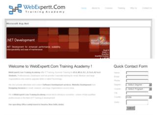 training.webexpertt.com screenshot