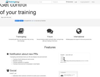 trainingblog.com screenshot