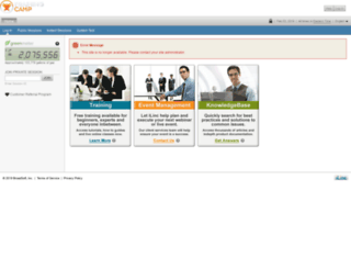 trainingcamp.ilinc.com screenshot