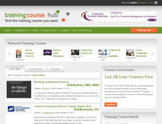 trainingcoursehub.com.au screenshot