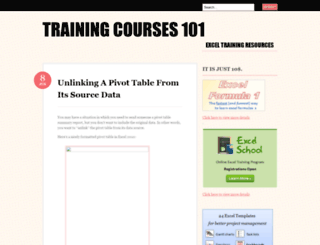 trainingcourses101.wordpress.com screenshot