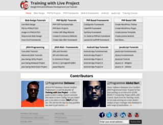 trainingwithliveproject.com screenshot