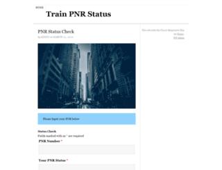trainpnrstatus.co.in screenshot
