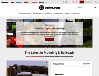 trains.com screenshot