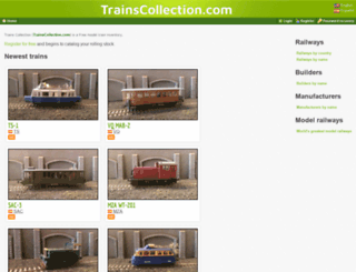 trainscollection.com screenshot
