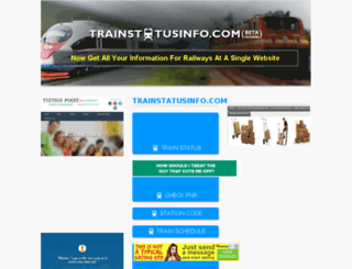 trainstatusinfo.com screenshot