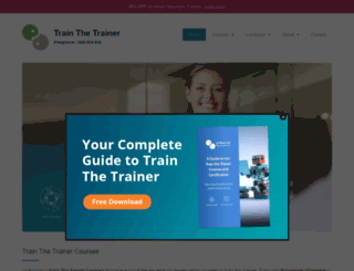 trainthetrainercourse.ie screenshot