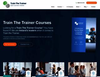 trainthetrainercourses.ie screenshot