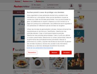 traiteur.auchan.fr screenshot