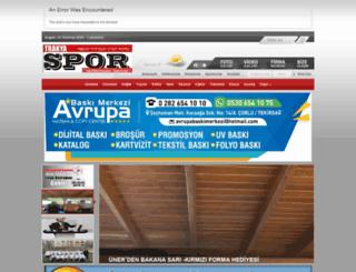 trakyasporgazetesi.com screenshot