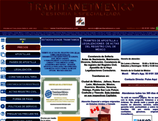 tramitanetmexico.com screenshot
