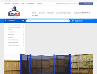 trampolinesforsale.co.nz screenshot
