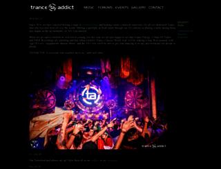 tranceaddict.com screenshot